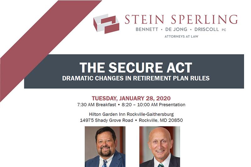 SECURE Act Seminar