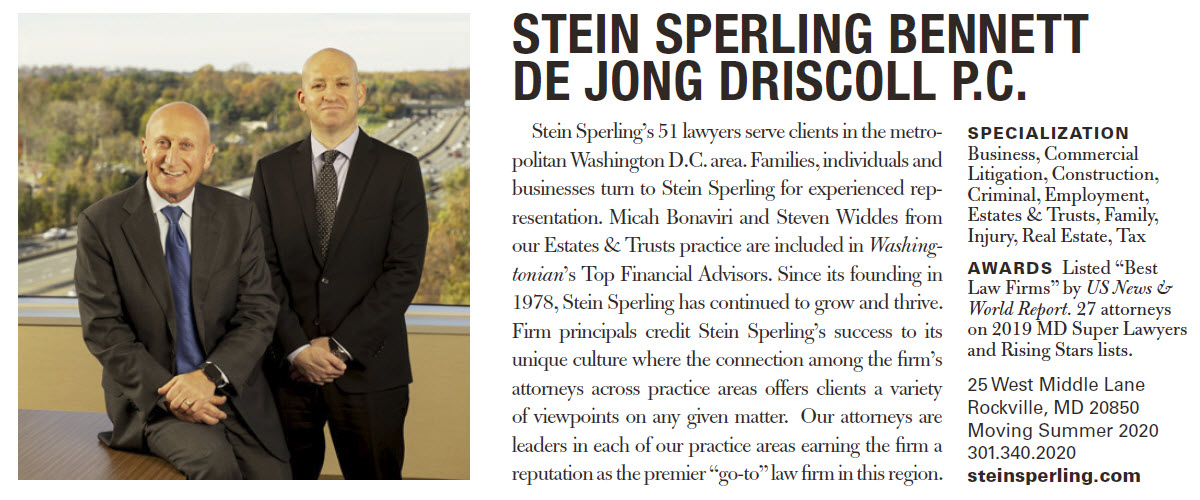 Washingtonian Top Financial Advisors