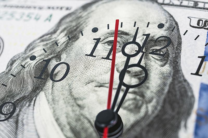 Clock face on Bill