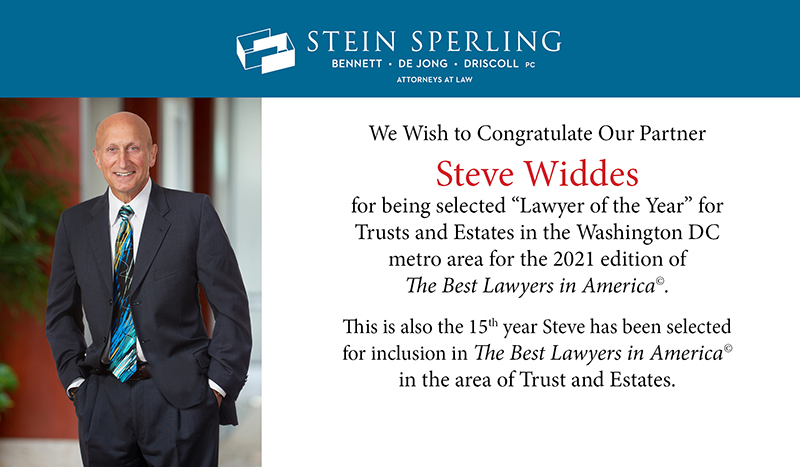 Steven Widdes Lawyer of the Year