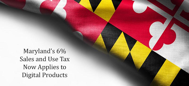 Maryland Flag Digital Tax Rate 6%