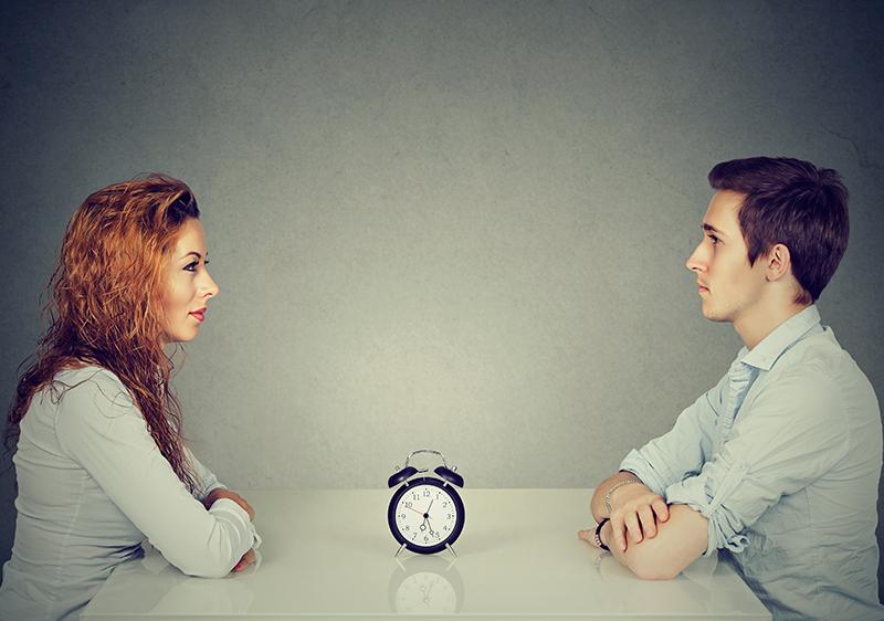 Man and woman clock
