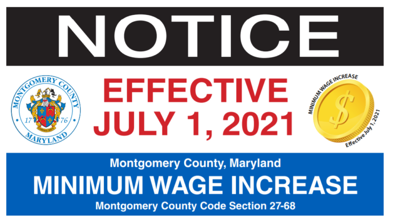 Notice of Montgomery County Wage Increase